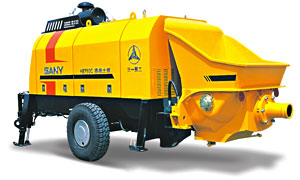 Diesel Engine Trailer-mounted Concrete Pump - HBT60C-1816D