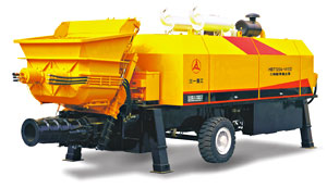 Third-gradation Trailer-mounted Concrete Pump - HBT120A-1613D
