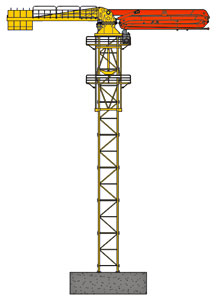 Fixed Tower Concrete Placing Booms - HGT41