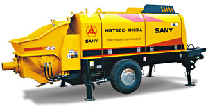 CE Approved Motor Trailer-mounted Concrete Pump - HBT60C-1816