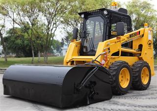 WS50 Skid Steer Loader With Sweeper