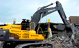 Volvo EC700C excavator feature the Volvo D13 engine for greater fuel efficiency