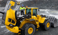 Volvo L250G loader easy access engine hood serviceability