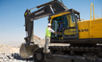 Volvo EC700C excavator offer an operator environment with Volvo s industry leading cab and large areas of glass for enhanced visibility