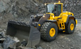 Volvo L250G loader larger buckets and greater breakout force power
